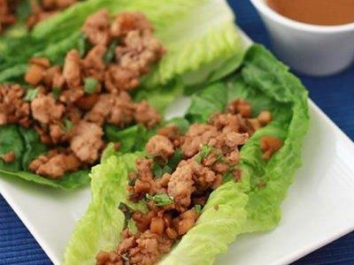 AIP recept- Csirkés salátatekercsek