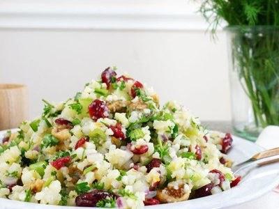 AIP recept- Mediterrán karfiolrizs saláta