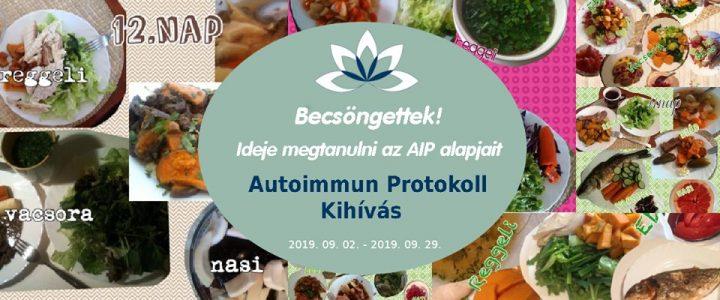 2019 szeptemberi Autoimmun Protokoll (AIP) kihívás