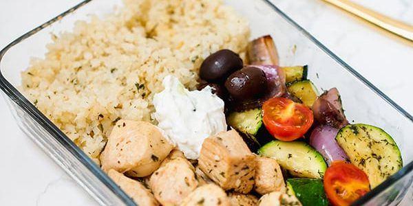 Uzsonnás doboz ötletek – Görög csirke tzazikivel