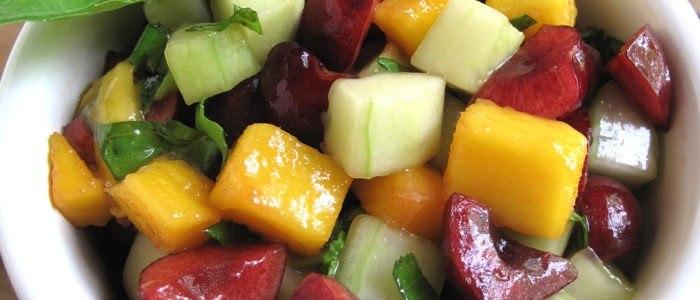 Cseresznye-mangó salsa